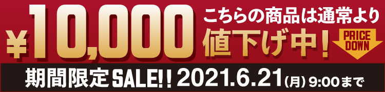 期間限定10,000円値引き!6月20日まで