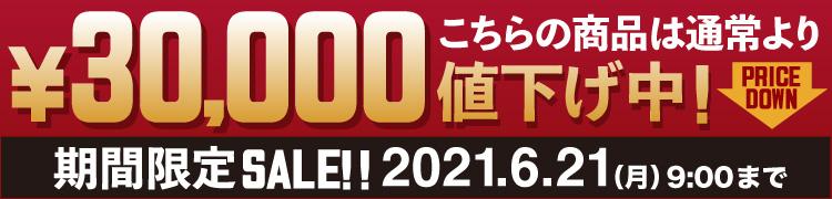 期間限定30,000円値引き!6月20日まで